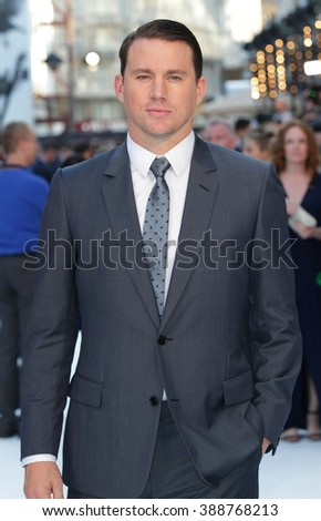 LONDON - JUN 30, 2015: Channing Tatum attends the Magic Mike: XXL - UK film premiere, Leicester Square on Jun 30, 2015 in London - stock photo