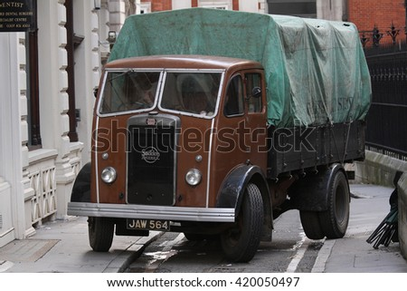 LONDON - NOV 3, 2013: General view of filming scenes for The Imitation Game on Nov 3, 2013 in London  - stock photo