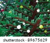LONDON- NOV 27: The worlds largest christmas tree made of Lego, using 600,000 bricks, has been unveiled at St pancras train station, London, nov 27, 2011. - stock photo