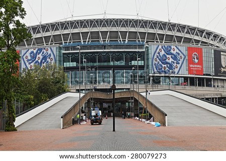 LONDON - on 25th May : Wembley Stadium, London on 25th May,2014. - stock photo