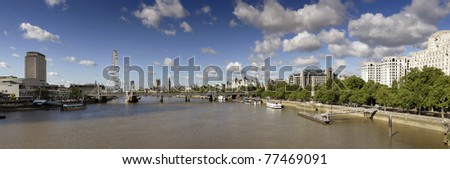 London panoramic - stock photo