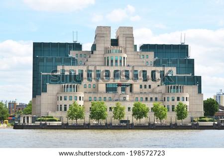 London, Secret Intelligence Service Building (SIS) - stock photo
