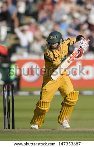 LONDON - 12 SEPT 2009; London England: Australia team player Callum Ferguson during the Nat West, 4th one day international cricket match between England and Australia held at Lords Cricket ground - stock photo