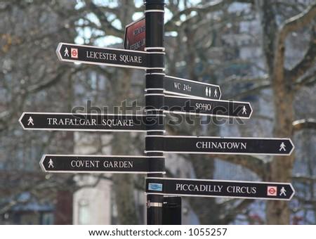 London signs - stock photo
