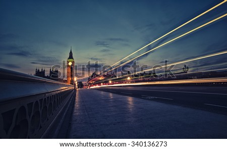London skyline at twilight - stock photo