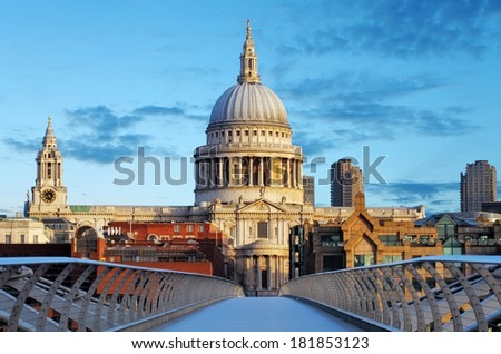 London St. Paul Cathedral, UK - stock photo