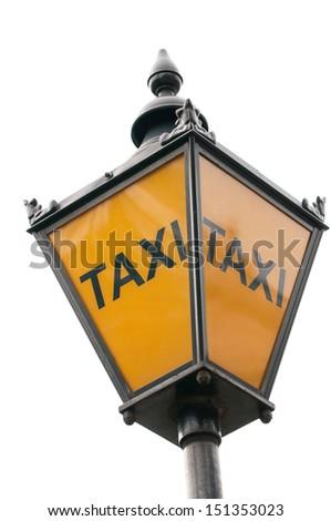 London Street Taxi Sign - stock photo