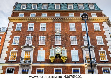 London streets/ Building/ Arhitecture/ UK - stock photo