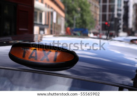 London Taxi - stock photo