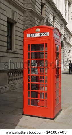 London telephone booth - stock photo