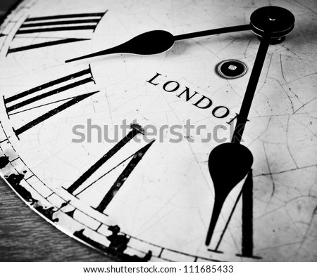 London time clock countdown concept - stock photo