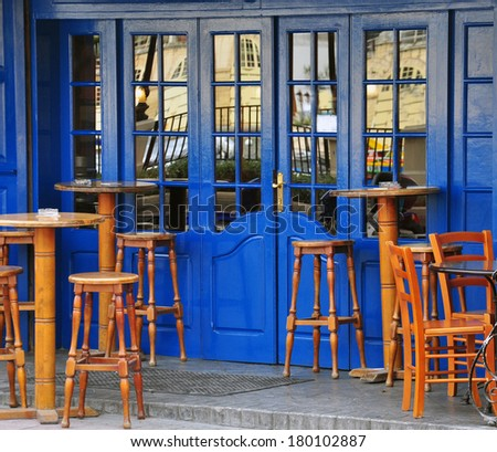 London traditional cafe exterior - stock photo