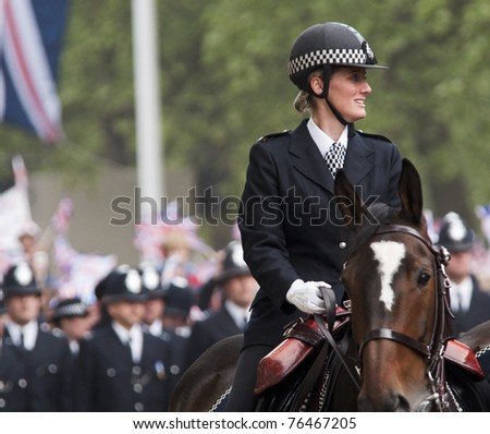 LONDON, UK - APRIL 29: Prince William and Kate Middleton wedding, April 29, 2011 in London, United Kingdom - stock photo