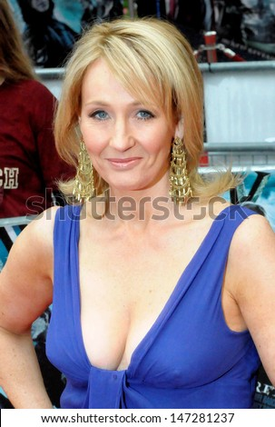 London, UK. JK Rowling at the premiere of the film 'Harry Potter and the Half-Blood Prince' held at the Odeon Cinema, Leicester Square. 7th July 2009.   - stock photo