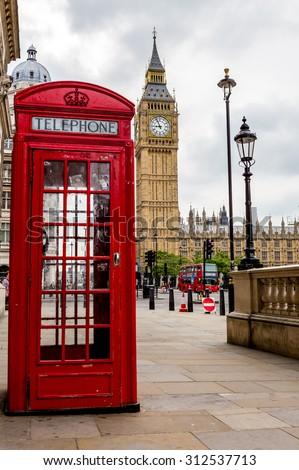 London, UK - July 20, Big Ben in London, July 20.2014 in London - stock photo