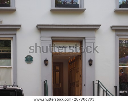 LONDON, UK - JUNE 10, 2015: Abbey Road recording studios made famous by the 1969 Beatles album - stock photo