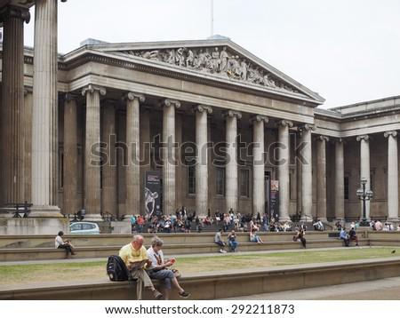 LONDON, UK - JUNE 12, 2015: The British Museum - stock photo