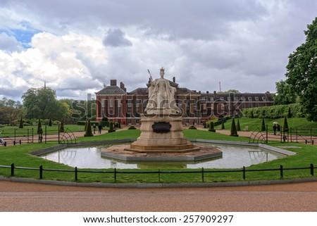 LONDON, UK - 13 May, 2014: Kensington palace and gardens - stock photo