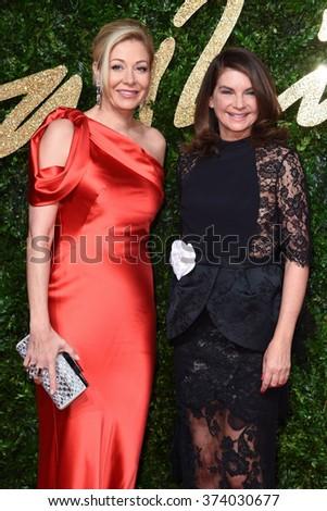 LONDON, UK - NOVEMBER 23, 2015: Nadja Swarovski & Natalie Massenet at the British Fashion Awards 2015 at the Coliseum Theatre, London. November 23, 2015  London, UK Picture: Steve Vas / Featureflash - stock photo