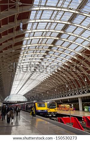 LONDON, UK - 23RD APRIL 2013: Paddington Station in London. - stock photo