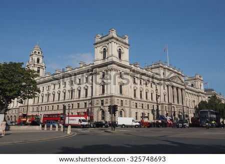 LONDON, UK - SEPTEMBER 28, 2015: HMRC Her Majesty Revenue and Customs - stock photo