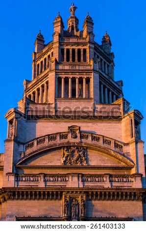 LONDON, UK 13th december. Victoria and Albert museum in London .december 2014 - stock photo