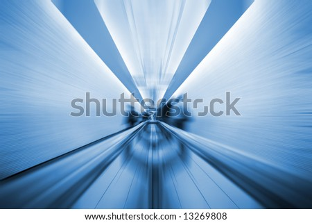 London underground in high, blue toned. - stock photo