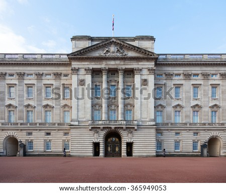 LONDON, UNITED KINGDOM - JANUARY, 2016: Buckingham Palace in Central London - stock photo