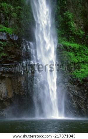Lone Creek Waterfall near Sabie, Mpumalanga, South Africa - stock photo