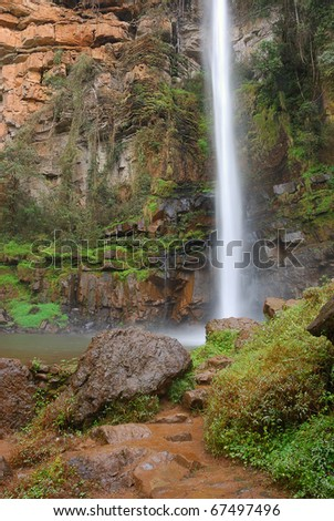 Lone creek waterfall South Africa - stock photo