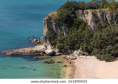 Lonely Bay, Coromandel Peninsula - stock photo