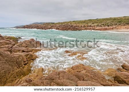 Lonely Beach - Costa da Morte - Galicia - Spain - stock photo