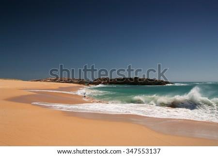 lonely beach, South Australia, Australia - stock photo