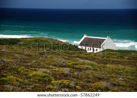 Lonely Building on South African Cape - stock photo
