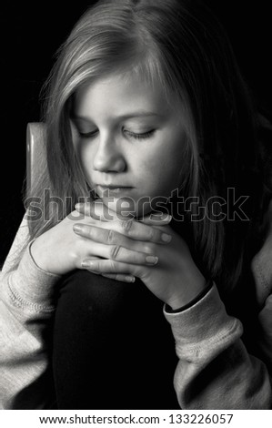 Lonely child - stock photo