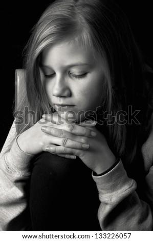 Lonely child - stock photo