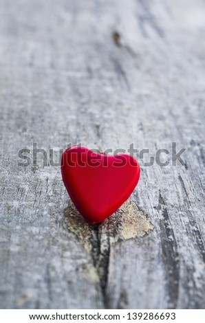 Lonely heart - stock photo