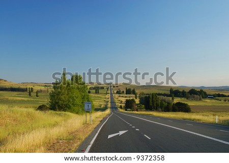 Lonely Highway in New South Wales, Australia - stock photo