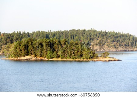 Lonely island in Sweden, Stockholm Archipelago - stock photo