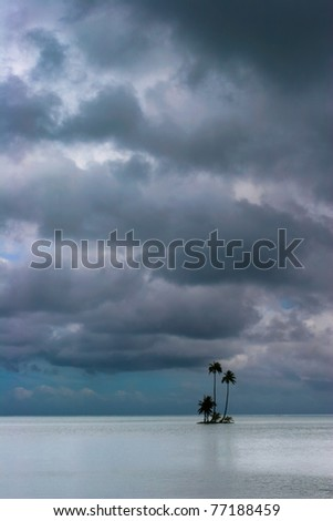 Lonely island in the middle of Pacific, Raiatea, French Polynesia - stock photo