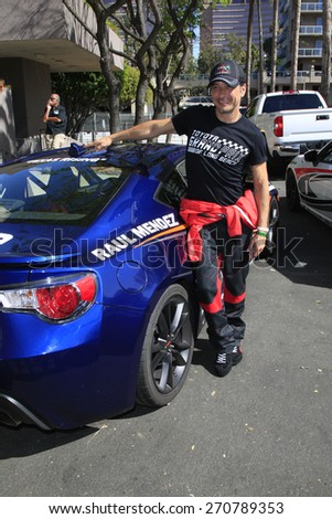 LONG BEACH - APR 18: Raul Mendez at the Toyota Grand Prix Of Long Beach Pro/Celebrity Race - Race Day on April 18, 2015 in Long Beach, California - stock photo