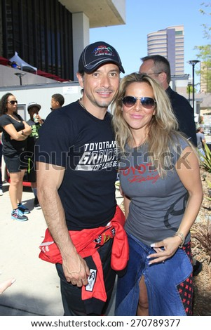 LONG BEACH - APR 18: Raul Mendez, Kate Del Castillo at the Toyota Grand Prix Of Long Beach Pro/Celebrity Race - Race Day on April 18, 2015 in Long Beach, California - stock photo