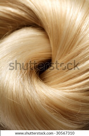 long blond human hair background - stock photo