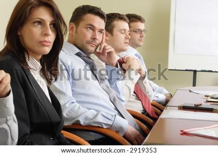 long boring informal meeting - stock photo