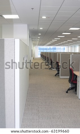 Long corridor. - stock photo