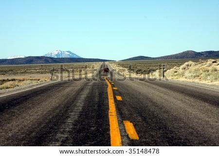 Long empty road - stock photo