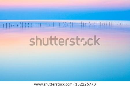 Long Exposure  Calm&Beautiful  Seascape - stock photo