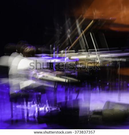 Long exposure jazz music - stock photo