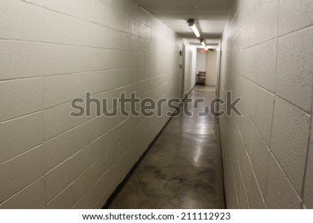 Long hallway - stock photo