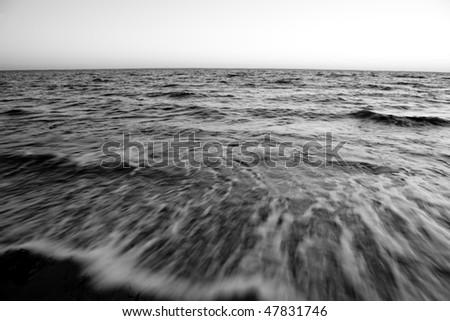 Long Island ocean - stock photo